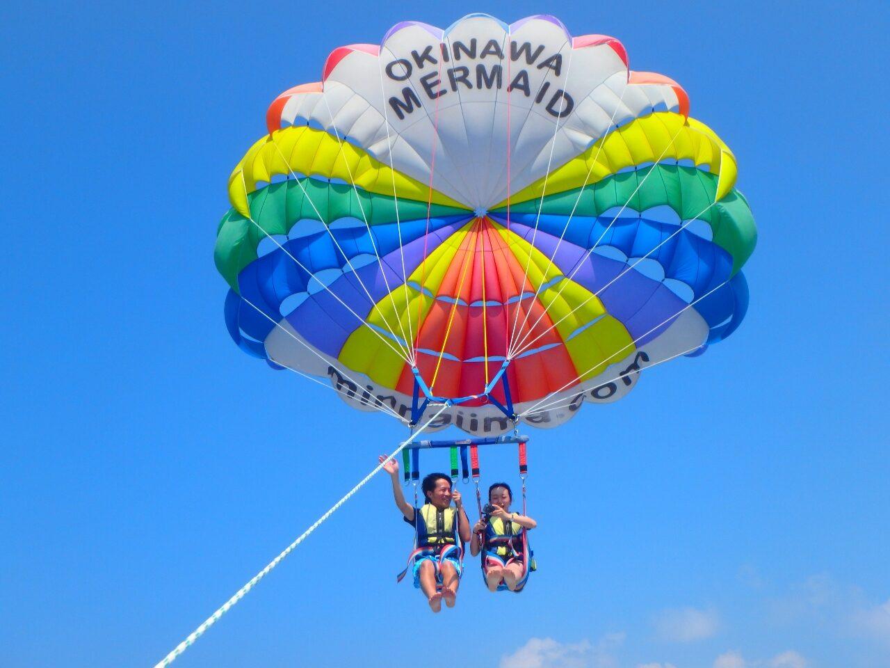 沖縄来たなら、パラセーリングで決まり!【沖縄マリンスポーツ専門店☆水納島マーメイド】