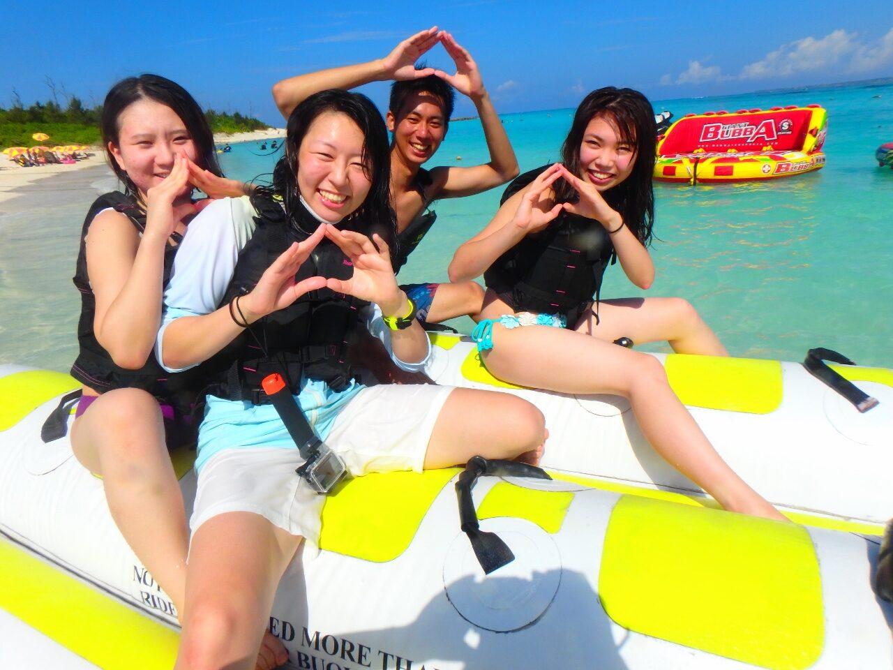 水納島ツアー再開♪(^^♪【沖縄マリンスポーツ専門店☆水納島マーメイド】